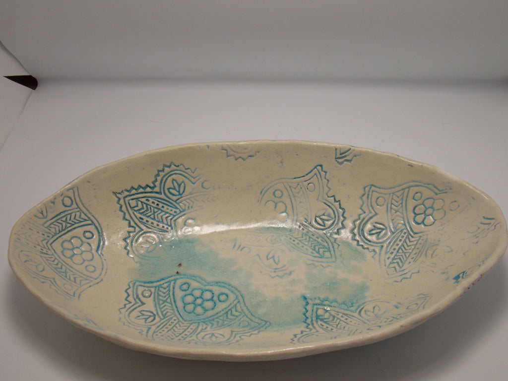 Narrow oval serving bowl by Amanda Bridges