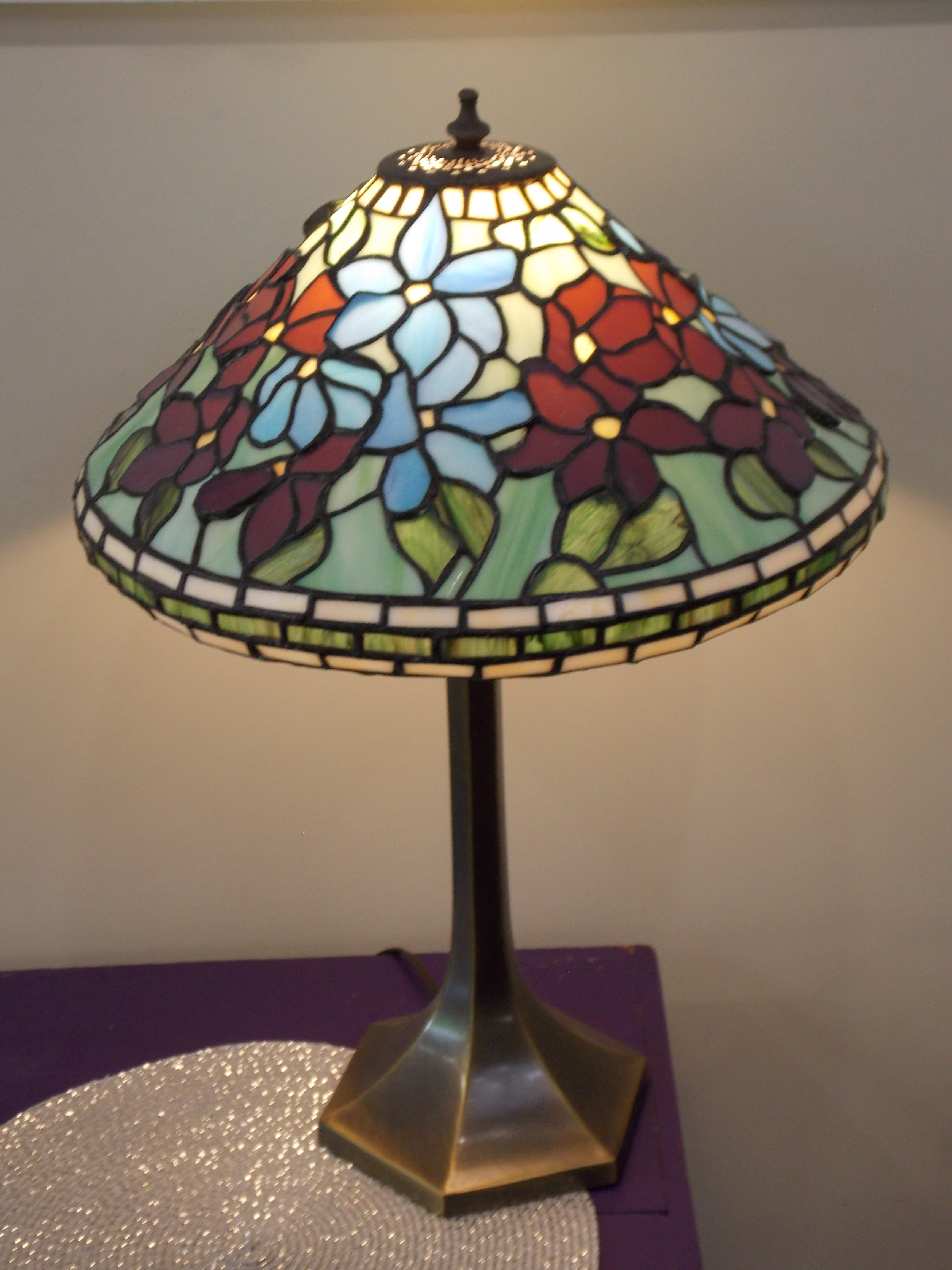 Mosaic glass lamp by Teresa Howard