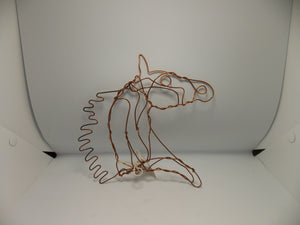 Copper Horse Head #CH2 by Dacelle Peckler