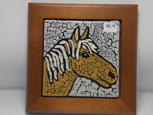 "4"" Horse Tile by Pam White"