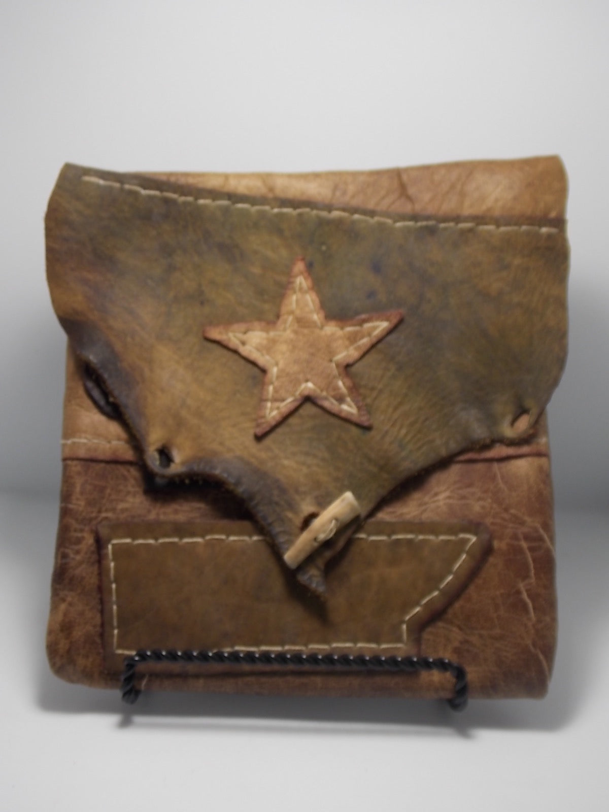 Leather bag by Russel Dahlstrom