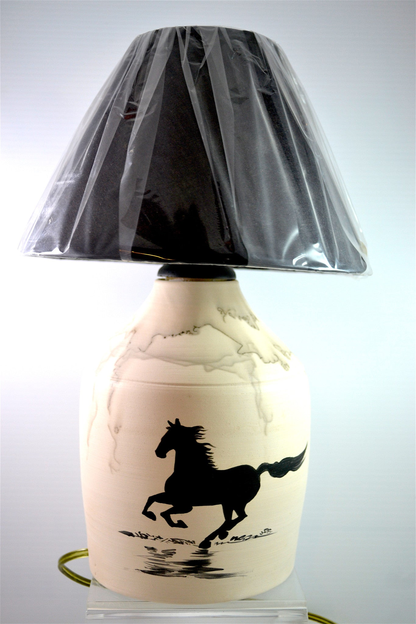 Horsehair Lamp by Henrietta and Jeffrey Scott