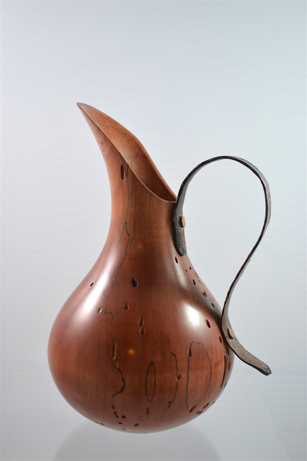 Copper Handled Vase
