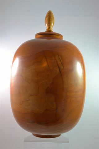 Large Cherry Lidded Vase