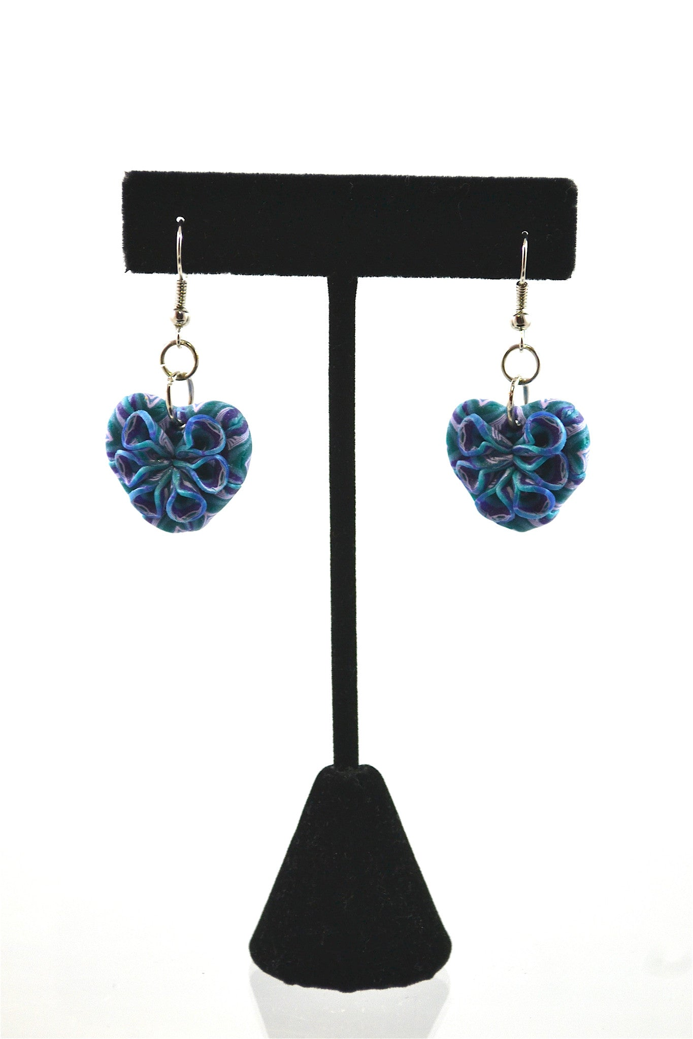 Polymer Clay Blue Earrings (HE1)