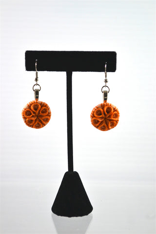 Polymer Clay Orange Earrings (CE1)