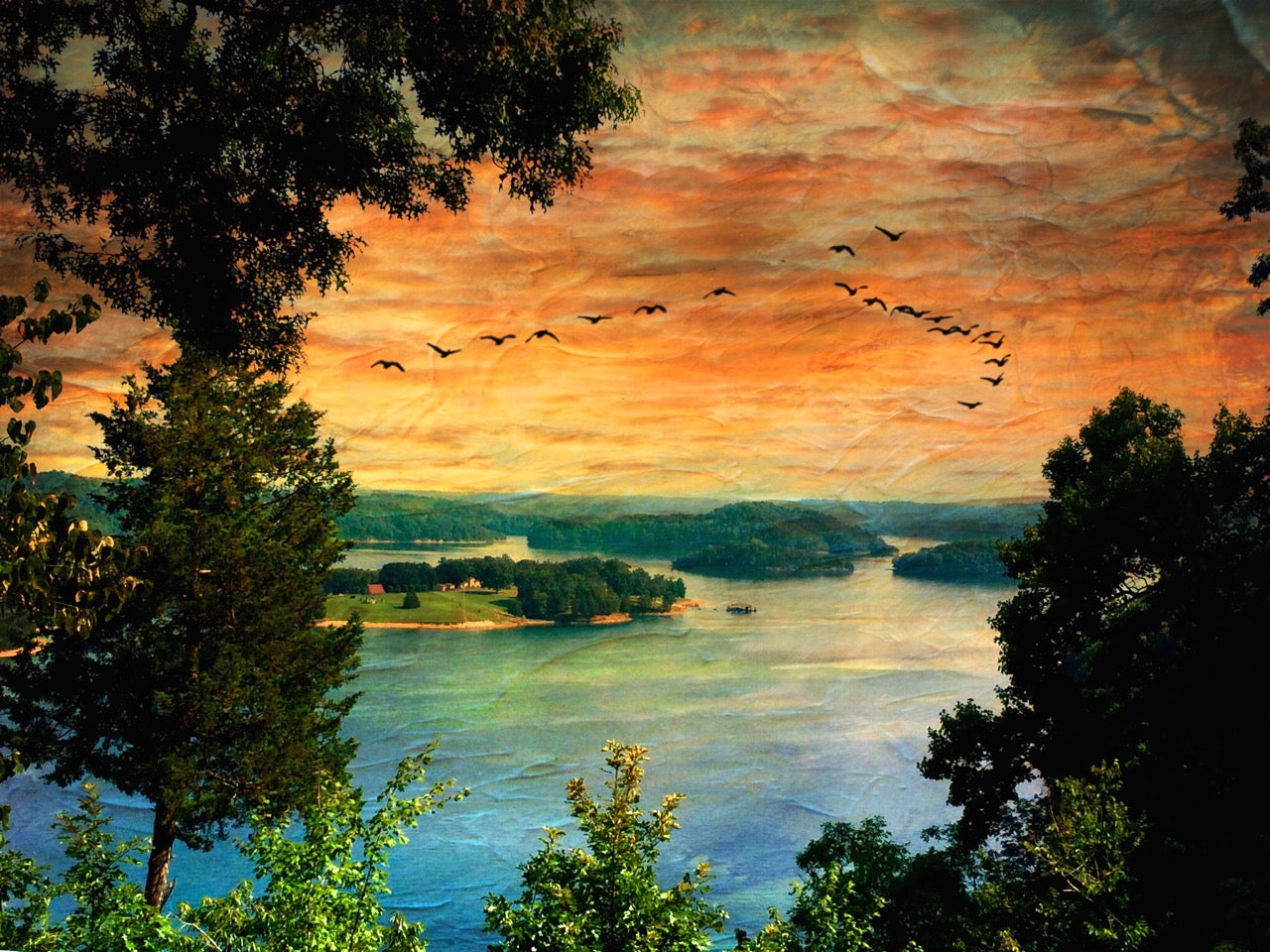 Sunset at Dale Hollow by Mary Clare O'Neal