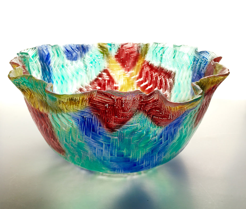 Large Rainbow Bowl by Dorothy Cline