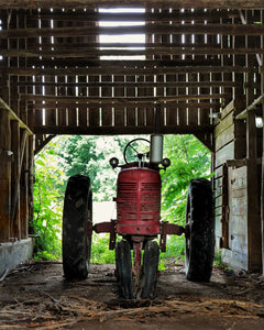 """Tractor in Barn"" by Robert Ellis"