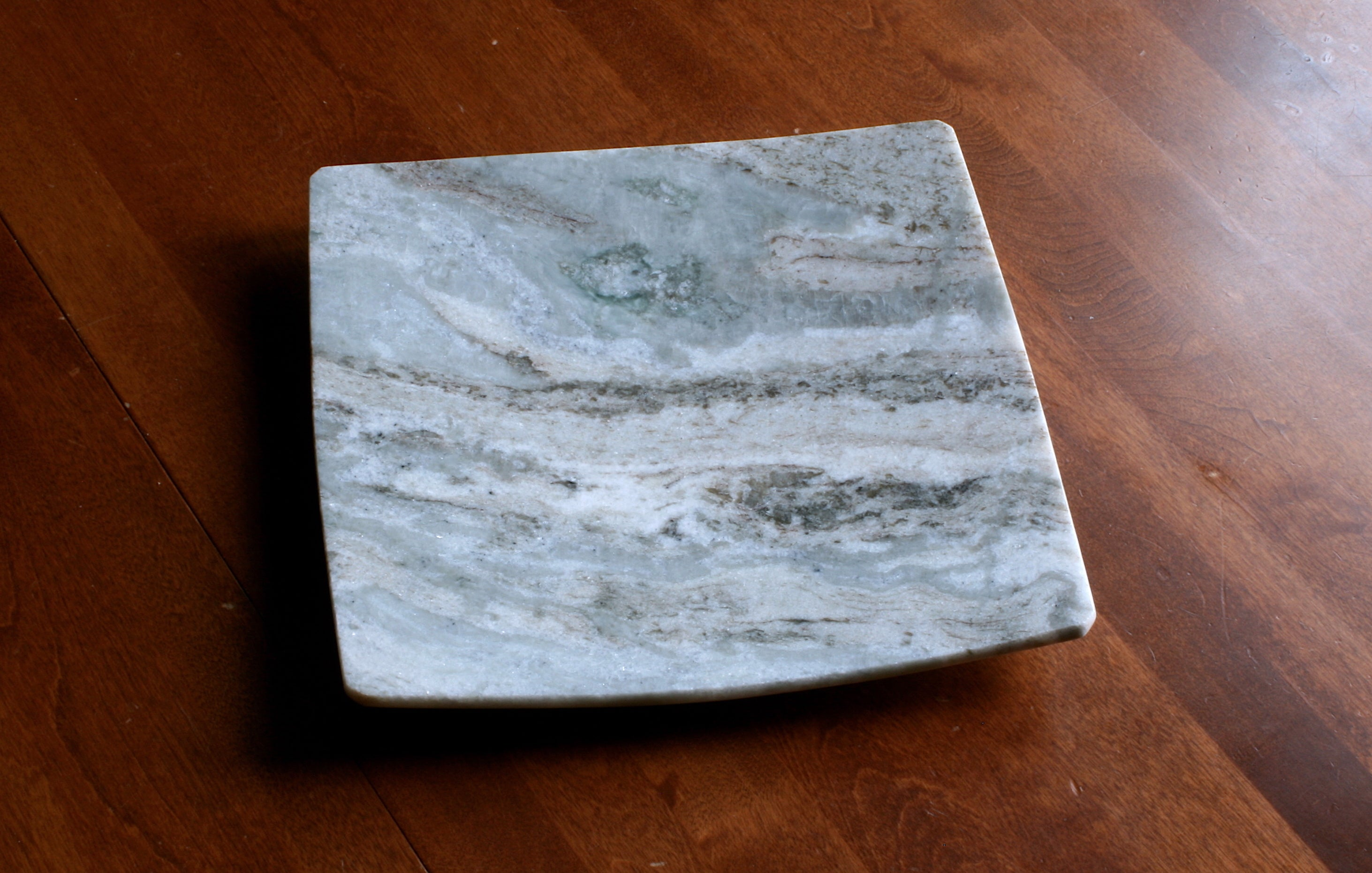Square Stone Dish, Sequoia Marble by Gary DuBois