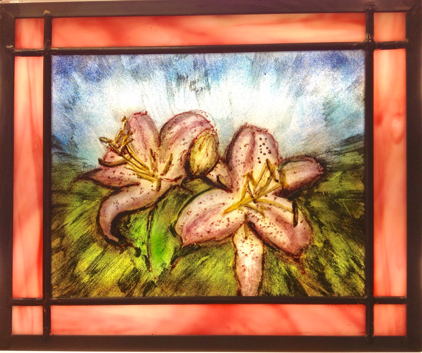 Pink Lillies by Dorothy Cline