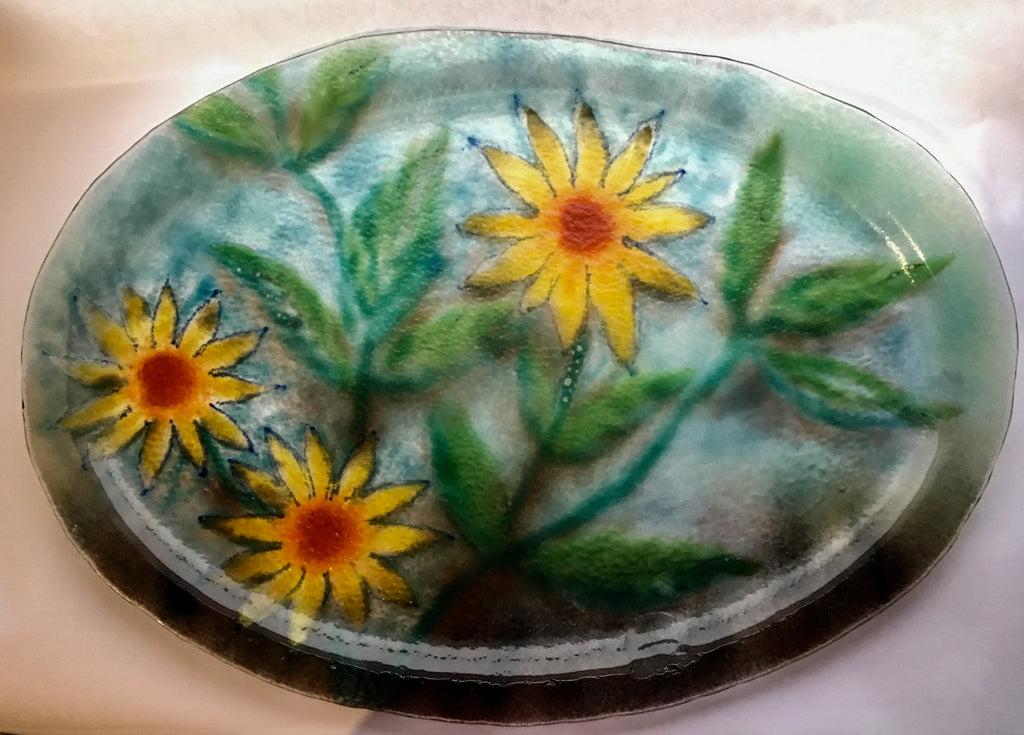 Flower Platter by Dorothy Cline