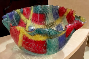 Multi-color bowl by Dorothy Cline