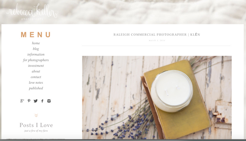 Klen Post on Rebecca Keller Photography Blog