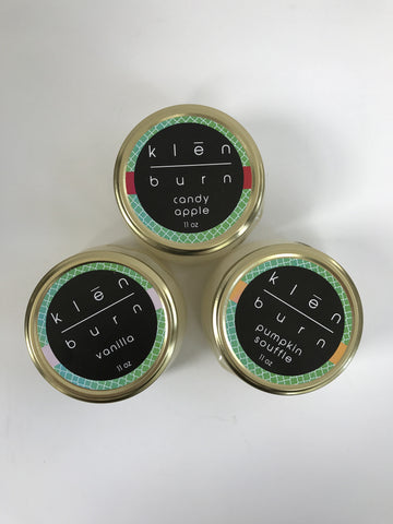 Klēn Burn Soy Candle- 11oz, 8oz or 6 oz jar- Fall/Winter 16-17 - Klēn Shop