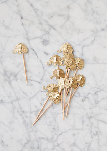 Toppers: Gold Elephants