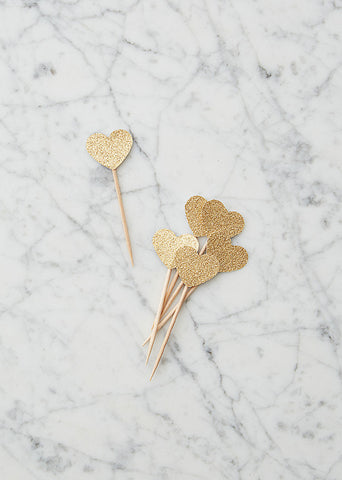 Toppers: Gold Hearts