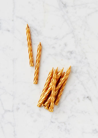 Gold Twist Candles