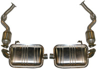 Porsche 987 Boxster Cayman Stainless sport exhaust set with cats<j>