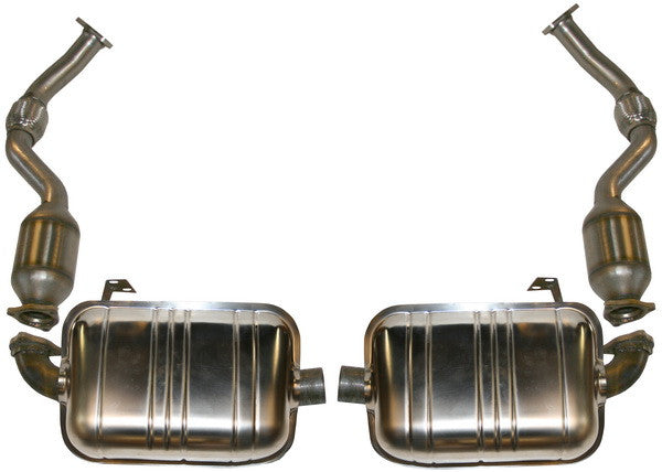 Porsche 987 Boxster Cayman Stainless sport exhaust set with cats