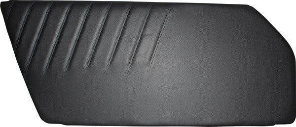 Porsche 911 '73-'89 Door Trim Panel, Black Vinyl, Left