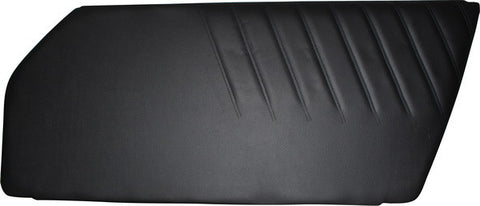 Porsche 911 '73-'89 Door Trim Panel, Black Vinyl, Right<j>
