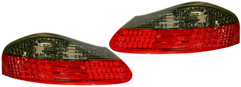 Porsche 986 96-04 Tail light set, smoked/red