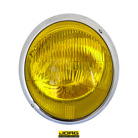 Porsche 911 65-67 Early European Headlight Assembly Amber Lens<j>