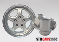 Porsche 911 930 912 924 944 968 951 Turbo Carrera SC Lug Nut For Alloy Wheel, SILVER