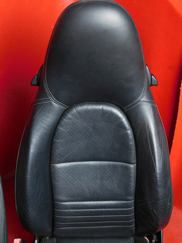 Connected Essentials CEM500 Car Mat Set for Boxster 1996-2006 Black with Black Trim Deluxe