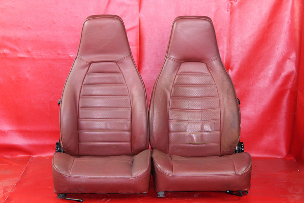 Porsche 911 3.0 Turbo Carrera Lobster Red Leather Seat Set #065