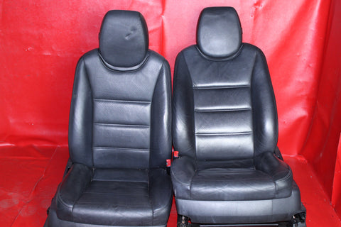 Porsche '08 Cayenne Black Leather 12-Way Power Comfort Seat Set (Front & Rear) #078