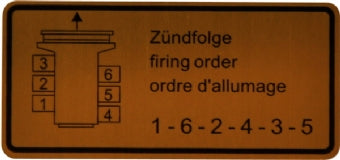 Porsche '63-'78 911 Firing Order Sticker<j>