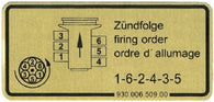 Porsche '79-'83 911 , '87-'89 911 Turbo Firing Order Sticker<j>