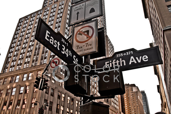 East 34th Street and 5th Ave intersection - Colorstock™  © Tee Dubose  - diverse stock photos