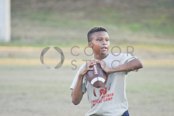 Boy playing football - quarterback - Colorstock™  © Integrative Flash  - diverse stock photos