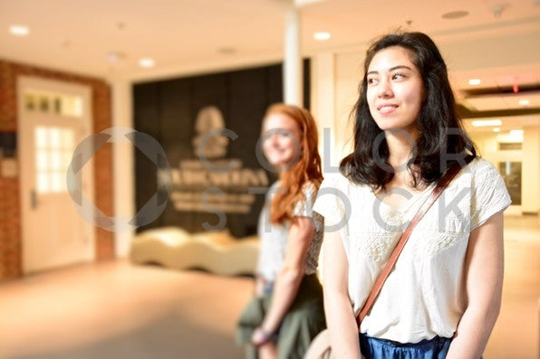 Students on college campus - Colorstock™  © Anna-Rhesa Versola  - diverse stock photos