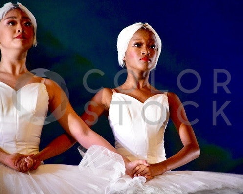 Two women during ballet performance - Colorstock™  © Anna-Rhesa Versola  - diverse stock photos