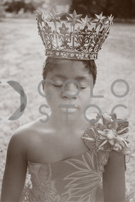 Girl wearing a crown