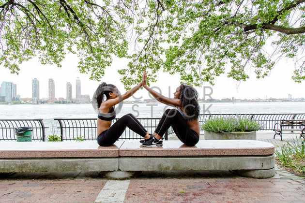Women exercising in the city - Colorstock™  © Click Clique NYC  - diverse stock photos