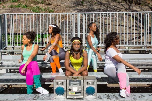 Aerobics class members with boombox - Colorstock™  © Click Clique NYC  - diverse stock photos