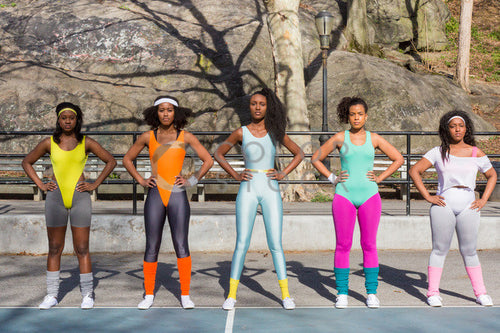 Aerobics class members - in formation - Colorstock™  © Click Clique NYC  - diverse stock photos