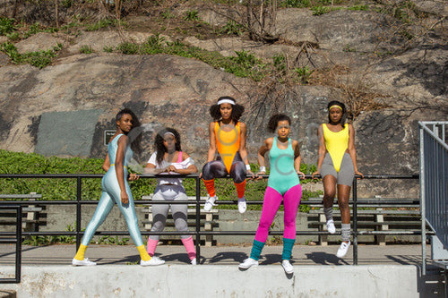 Aerobics class members - posed - Colorstock™  © Click Clique NYC  - diverse stock photos