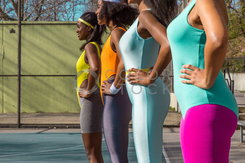 Aerobics class members - in formation 2 - Colorstock™  © Click Clique NYC  - diverse stock photos
