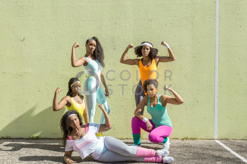 Aerobics class members - in formation 8 - Colorstock™  © Click Clique NYC  - diverse stock photos
