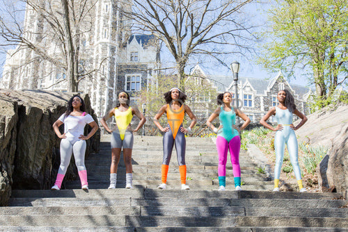 Aerobics class members - in formation 4 - Colorstock™  © Click Clique NYC  - diverse stock photos