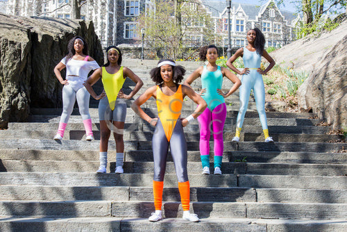 Aerobics class members - in formation 5 - Colorstock™  © Click Clique NYC  - diverse stock photos