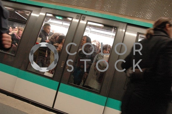 Travelers on the subway - Colorstock™  © Anna-Rhesa Versola  - diverse stock photos