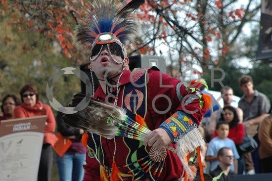 Native American powwow dancer - full garb, face on - Colorstock™  © Anna-Rhesa Versola  - diverse stock photos