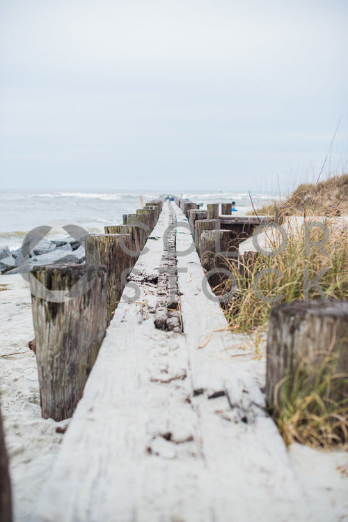 Boardwalk at the beach - vertical - Colorstock™  © Sirena White  - diverse stock photos